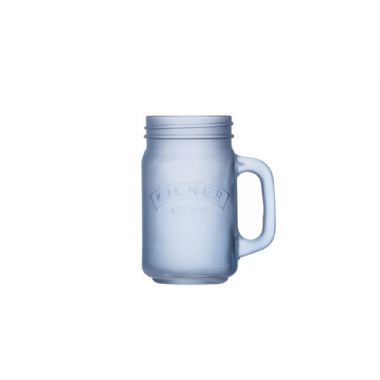 Kilner Blue Frosted Handled Jar 0.4 Litre
